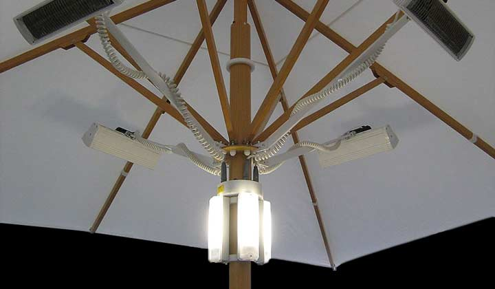 Large Patio Umbrellas   Lights